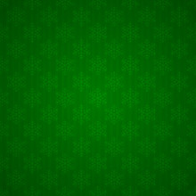 Seamless Green Background With Snowflakes