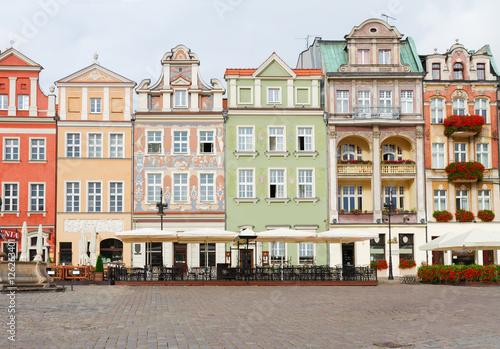 Plakat renesansowe domy na rynku w Poznaniu, Polska