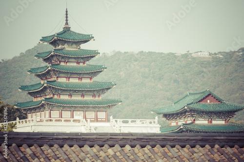 Zdjęcie XXL Geunjeongjeon, sala tronowa, w pałacu Gyeongbokgung,
