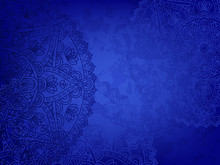 Horizontal Blue Background Wit...