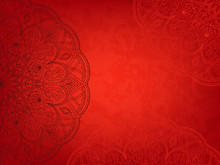 Horizontal Red Background With...