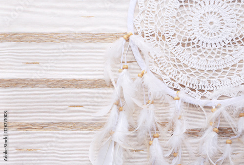 Fotografia, Obraz  Dreamcatcher on a beige background
