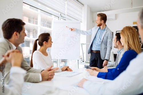 Obraz na płótnie Presentation and training in business office