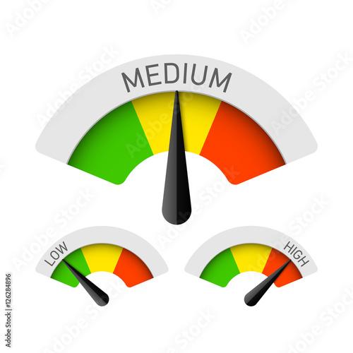 Photographie  Low, Medium and High gauges