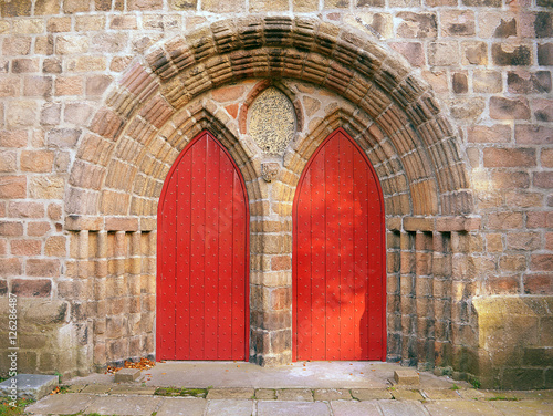 Photo Doors at the cathedral church of St Machar, Aberdeen, Scotland