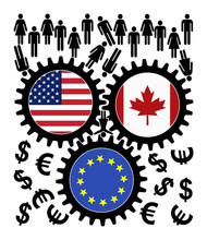 Fears Over TTIP And CETA. People Object The Trade Agreement Between The US, Canada And The European Union Since They Fear Of Getting Exploited