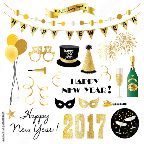 new years eve clipart Poster