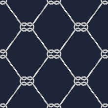 Seamless Nautical Rope Pattern - Square Knots
