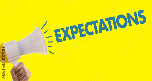 Expectations Poster Mural XXL