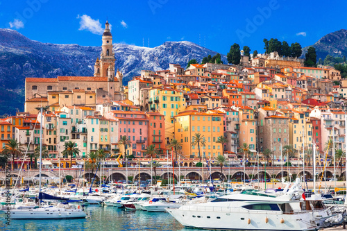 Photo colorful Menton - luxury holidays in south of France