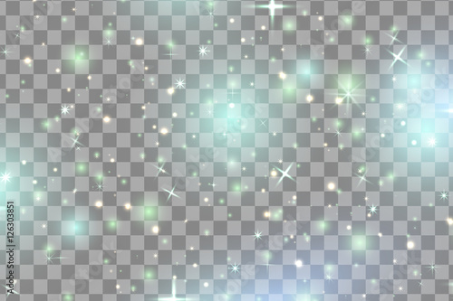Fotografia colorful sparks and stars glitter special light effect