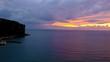 Beautiful sunset over Sorrento coastline and gulf of Naples