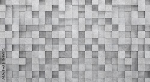 Fototapeta na wymiar Ściana z betonowych kostek 3d