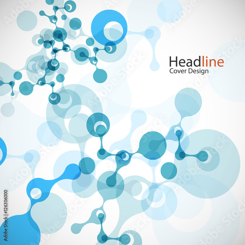 Geometric background molecule and communication. Connected atoms. Vector illustration