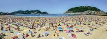 La Concha Beach Crowded At Sea...