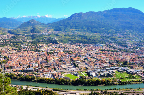Aerial view of Trento Italy Wallpaper Mural
