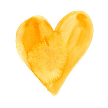 Big Yellow Heart Painted In Wa...