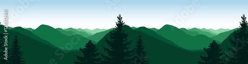 Aluminium Prints Green coral Panorama of mountains. Natural tones. Seamless rocks.