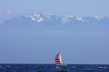 Yacht Off Vancouver Island