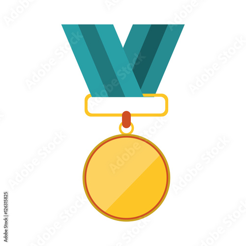 Medal icon  Winner competition success price and award theme