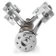 canvas print picture Crankshaft pistons engine V6 mechanism
