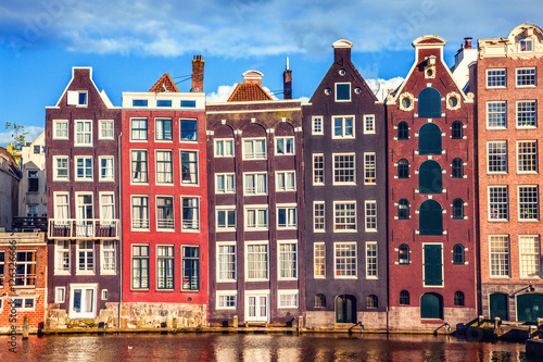 Canvas Prints Amsterdam Houses in Amsterdam