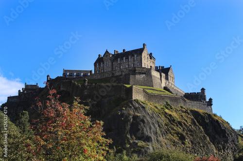 Plakat zamek w Edynburgu
