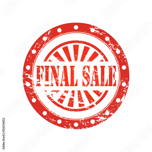 Sale Stamp Sign Text FINAL SALE