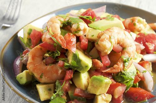 Ceviche con camarones - shrimp ceviche