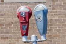 Parking Meters In The City.