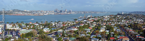Staande foto Nieuw Zeeland Auckland Panorama from Mount Victoria, Devonport towards City &