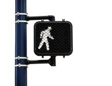 Pedestrian Walk Symbol Isolated On White