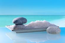 Sea Salt On A Background Of Se...