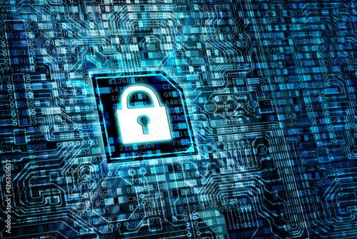Fotomural Secure internet  data processing concept