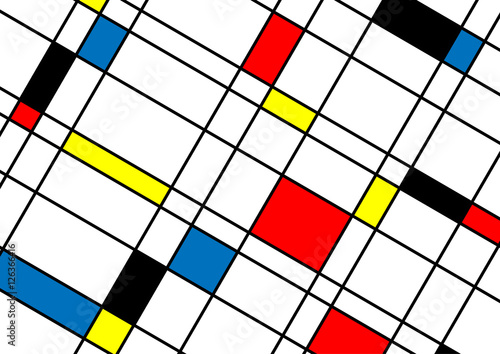 Abstract minimal geometric lines and squares shapes design backg - 126366416
