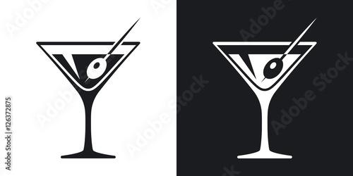 Pinturas sobre lienzo  Vector martini glass icon