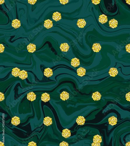 Trendy Gold Glitter Polka Dot Vector Invitation Template Great