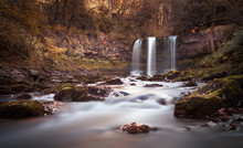 The Afon Hepste River Plunges Over A Band Of Resistant Gritstone To Form The Waterfall Sgwd Yr Eira Which Translates Into 'Fall Of Snow' And Often Refered To As The Waterfall You Can Walk Under.