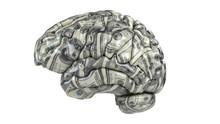 Human Brain Whith Dollars Text...