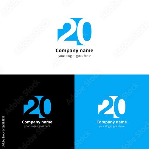 Poster  20 logo icon flat and vector design template