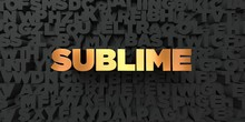 Sublime - Gold Text On Black B...
