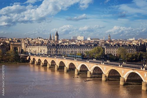 Fényképezés  Bordeaux vue d'en haut