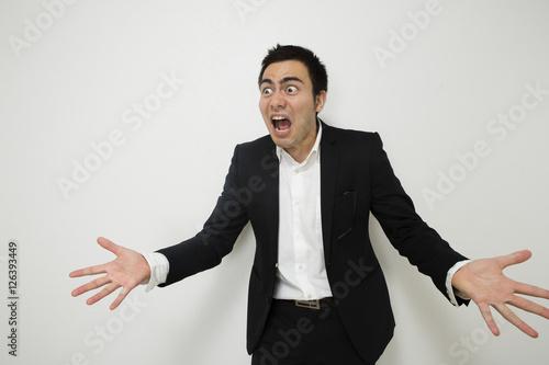 怒っているビジネスマン Canvas Print