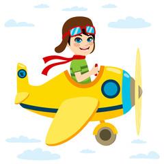 fototapeta chłopczyk w samolocie