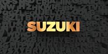 Suzuki - Gold Text On Black Ba...