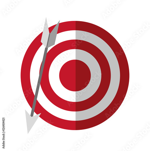 Target And Arrow Icon Solution Success Strategy And Idea Theme