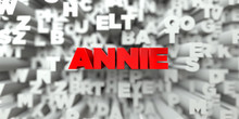 ANNIE -  Red Text On Typograph...