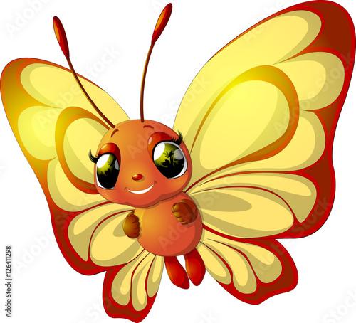 Staande foto Vlinders in Grunge Grunge rainbow butterfly