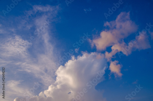 volumetric clouds at sunset - Buy this stock photo and explore