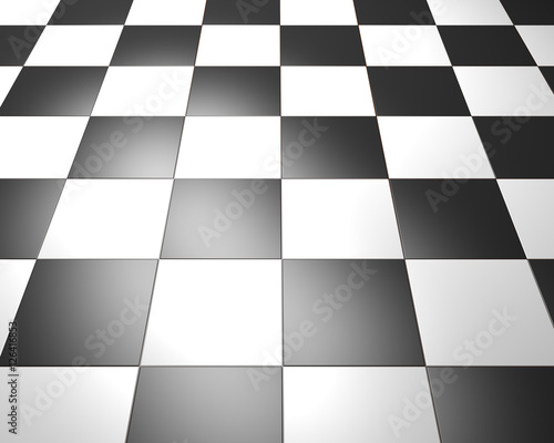 Black and white Vintage Floor Tiles Background  Checkered Texture as